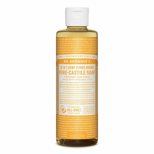 Organic Citrus Hemp Pure-Castile Liquid Soap 237mL