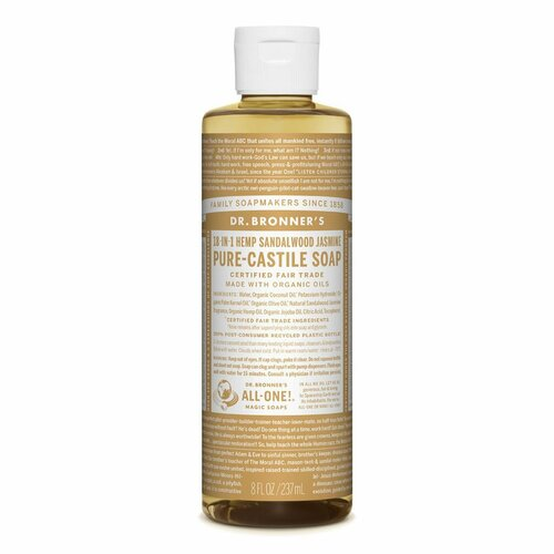 Organic Sandalwood & Jasmine Hemp Pure-Castile Liquid Soap 237mL