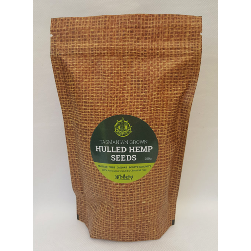 Tasmanian Grown Hulled Hemp Seeds 250g