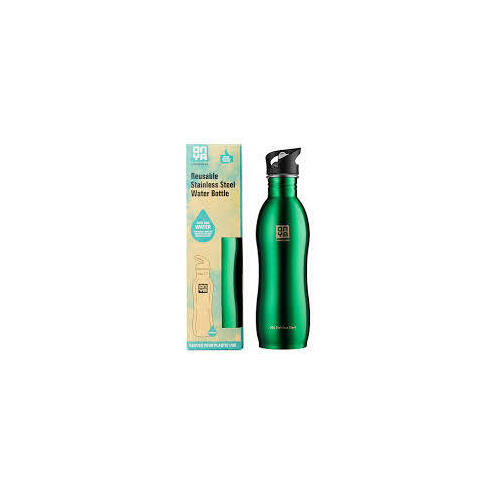 Stainless Steel Water Bottle 1 litre Green
