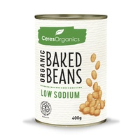Organic Baked Beans, Low Sodium - 400G