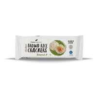 s Brown Rice Crackers w/ Green Tea & Seaweed 115g
