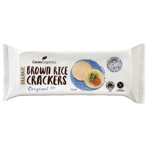 Brown Rice Crackers Original 115g