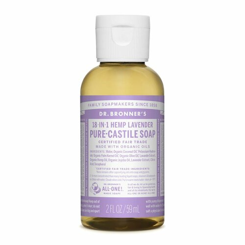 Organic Lavender Hemp Pure-Castile Liquid Soap 237mL
